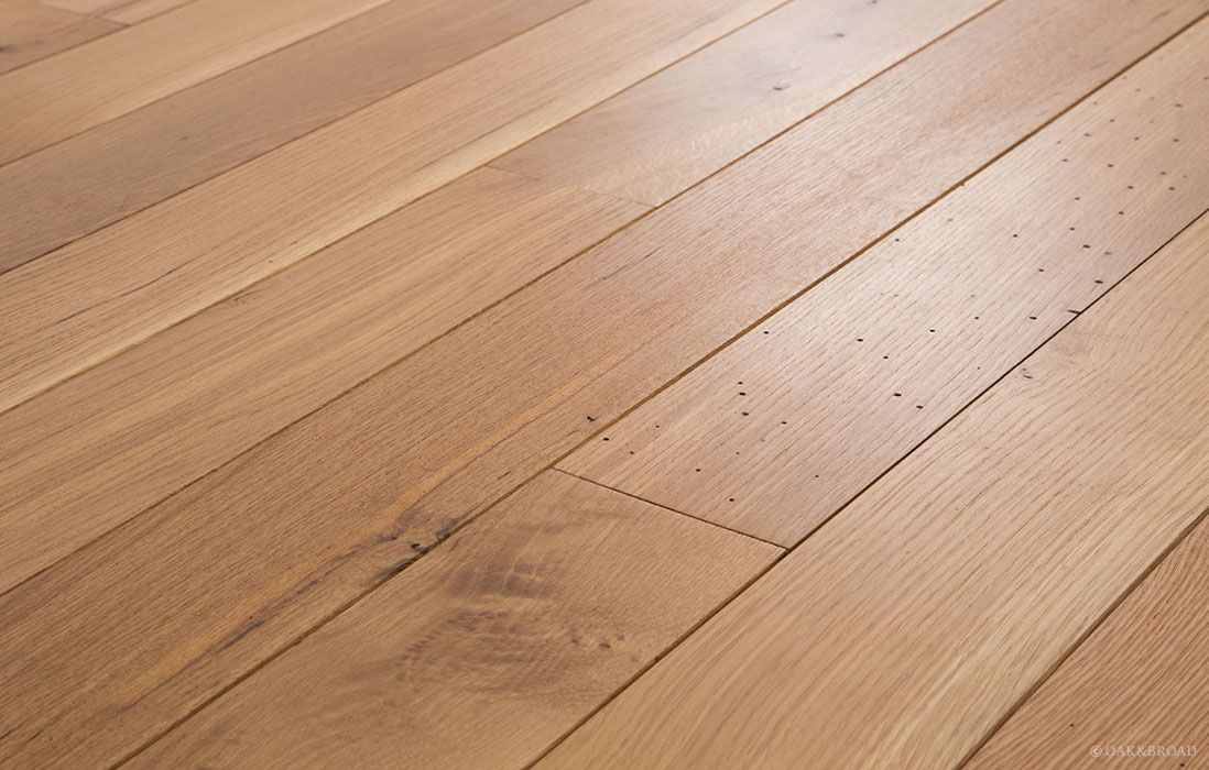 White oak natural finish oak hardwood flooring wide for Wide plank wood flooring