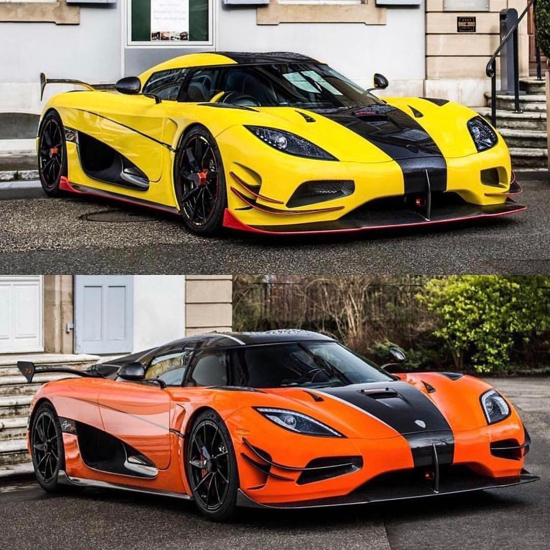 Yellow Or Orange Egg Via Xricox Make Sure To Like And Follow Tag A Friend To Ride With Use Tuningcult I Super Luxury Cars Koenigsegg Super Cars