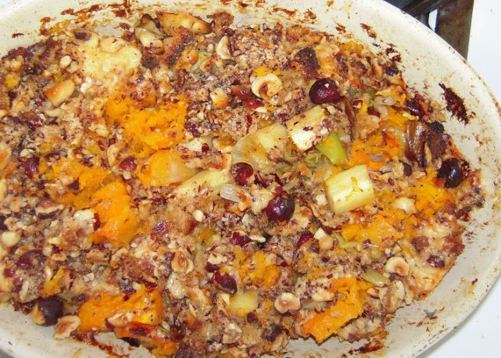 Butternut squash gratin with aged gouda and toasted