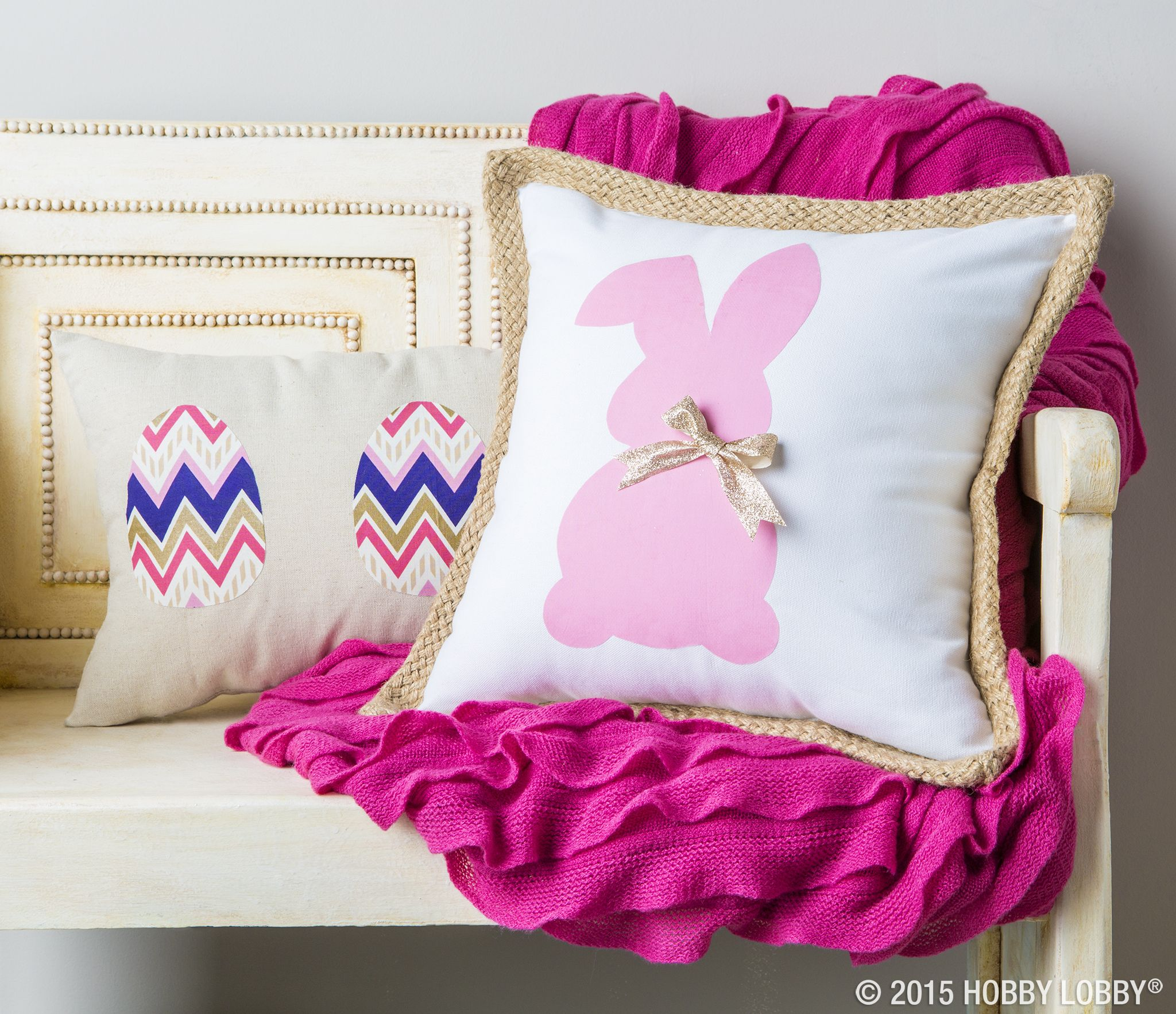 Hop Into The Easter Season By Creating A Pillow Cover With Your