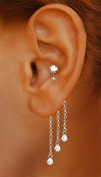 sparkly and pretty earrings