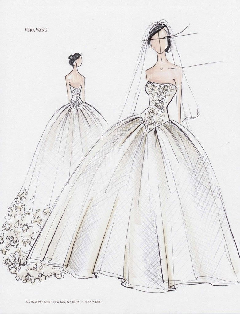 wedding dress sketches couture fashion design on