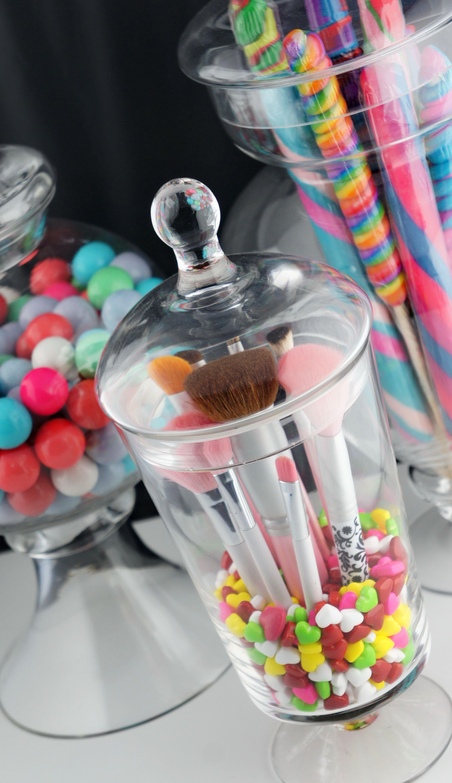 Belle Candy Makeup Brush Jar Makeup brush organization