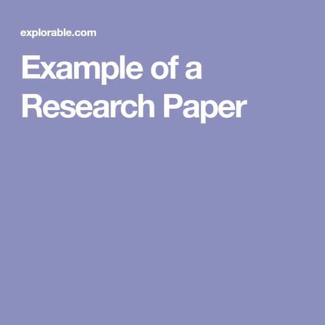 Example Of A Research Paper Mental Health Counseling Therapy