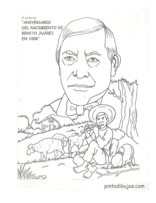 Dibujos Periodico Mural De Marzo Male Sketch Coloring Pages Benito Juarez