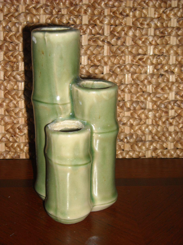 Vintage Ceramic Bamboo Design Vase Pen And Pencil Holder Toothbrush Holder 6 00 Via Etsy Bamboo Design Vintage Ceramic Ceramics