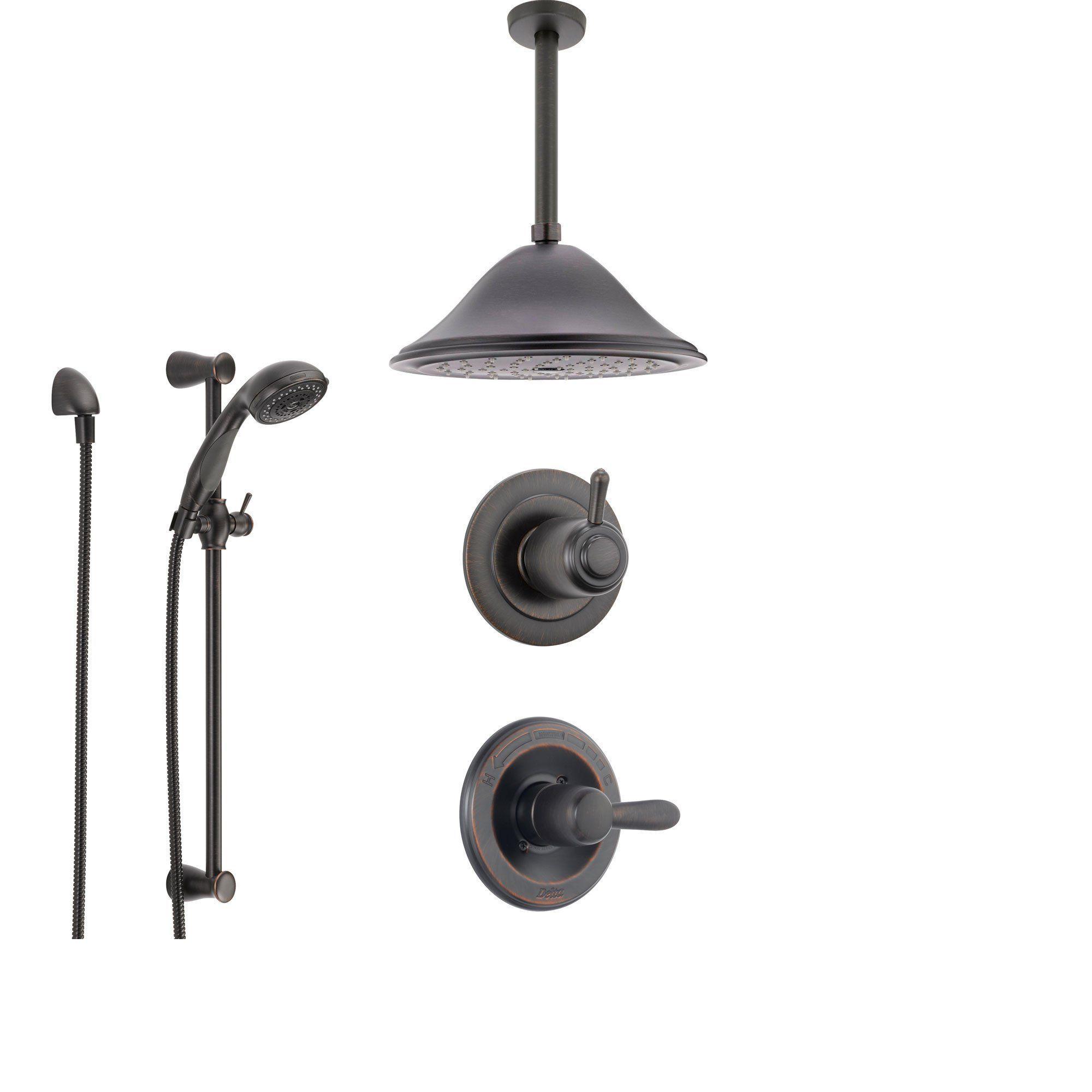 Delta Lahara Venetian Bronze Shower System with Normal Shower Handle ...