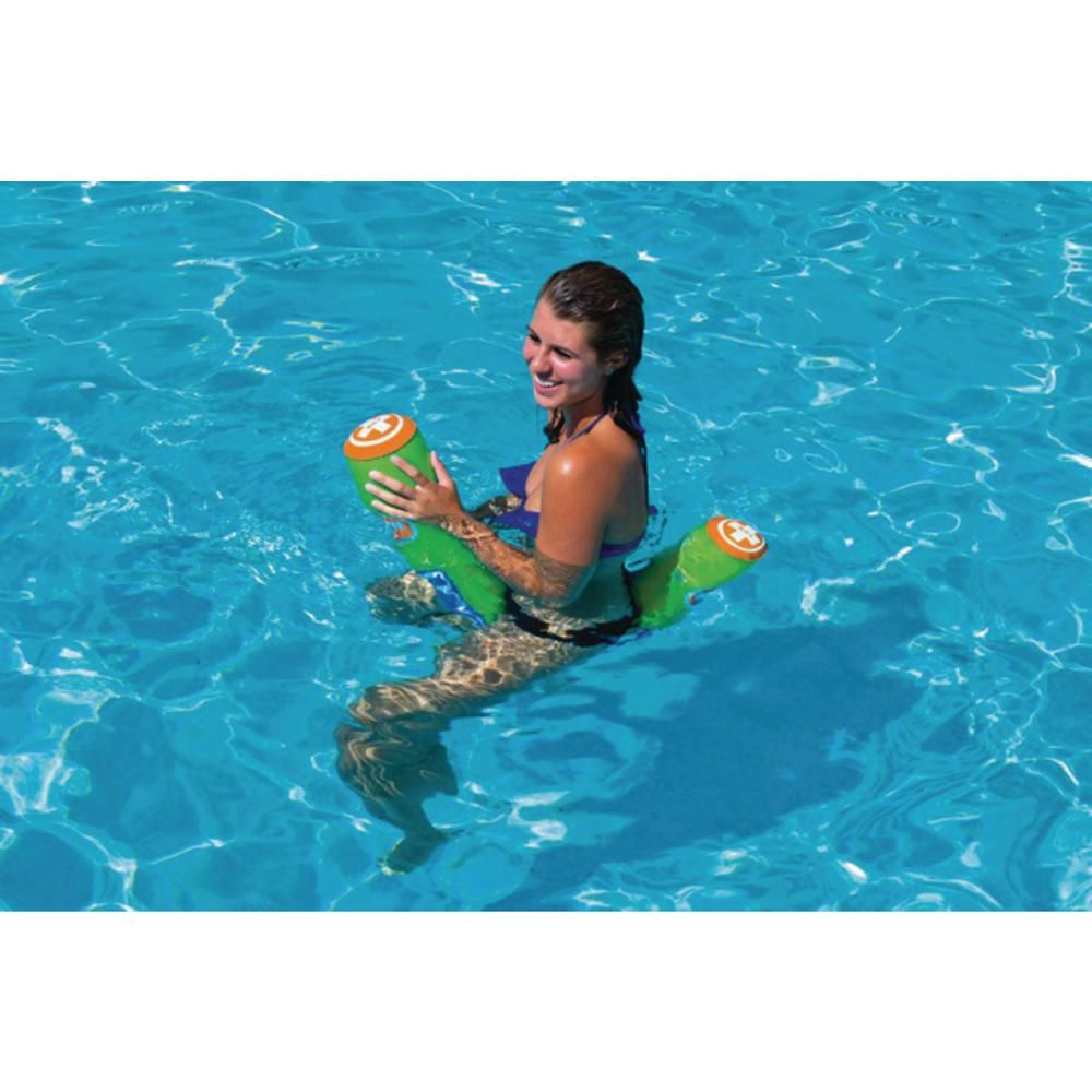 Wow Water Pickle Inflatable Pool Float Noodle With 220 Lbs Capacity Multicolor 10 Pack 18 2010 The Home Depot Inflatable Pool Floats Inflatable Pool Water Time