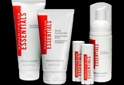 Must have essentials! Daily moisturizer, suncreen, sunless tanner, & lip shield!