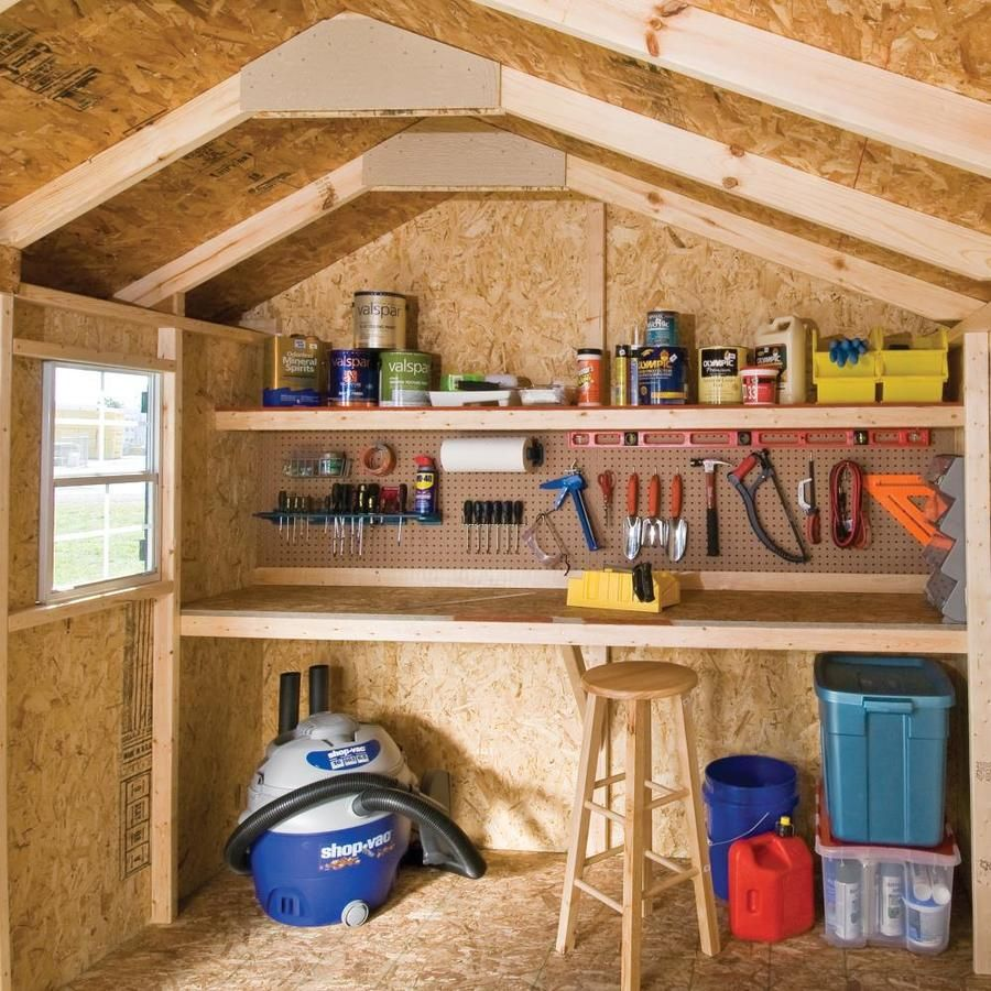 Heartland Common 12 Ft X 8 Ft Interior Dimensions 11 71 Ft X 8 Ft Stratford Saltbox Engineered Storage Shed Lowes Com Shed Storage Workshop Shed Wood Storage Sheds