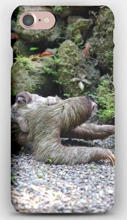 iPhone 7 Case Three-toed sloth, Baby, Walk