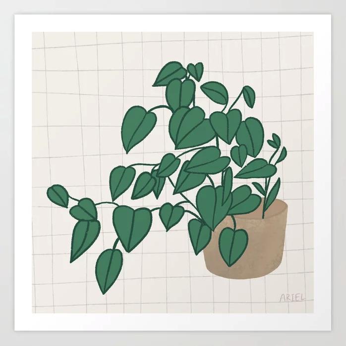 """Tuesday Plant"" Art Print by Ariel Coleman on Society6 | Society6 thumbnail"