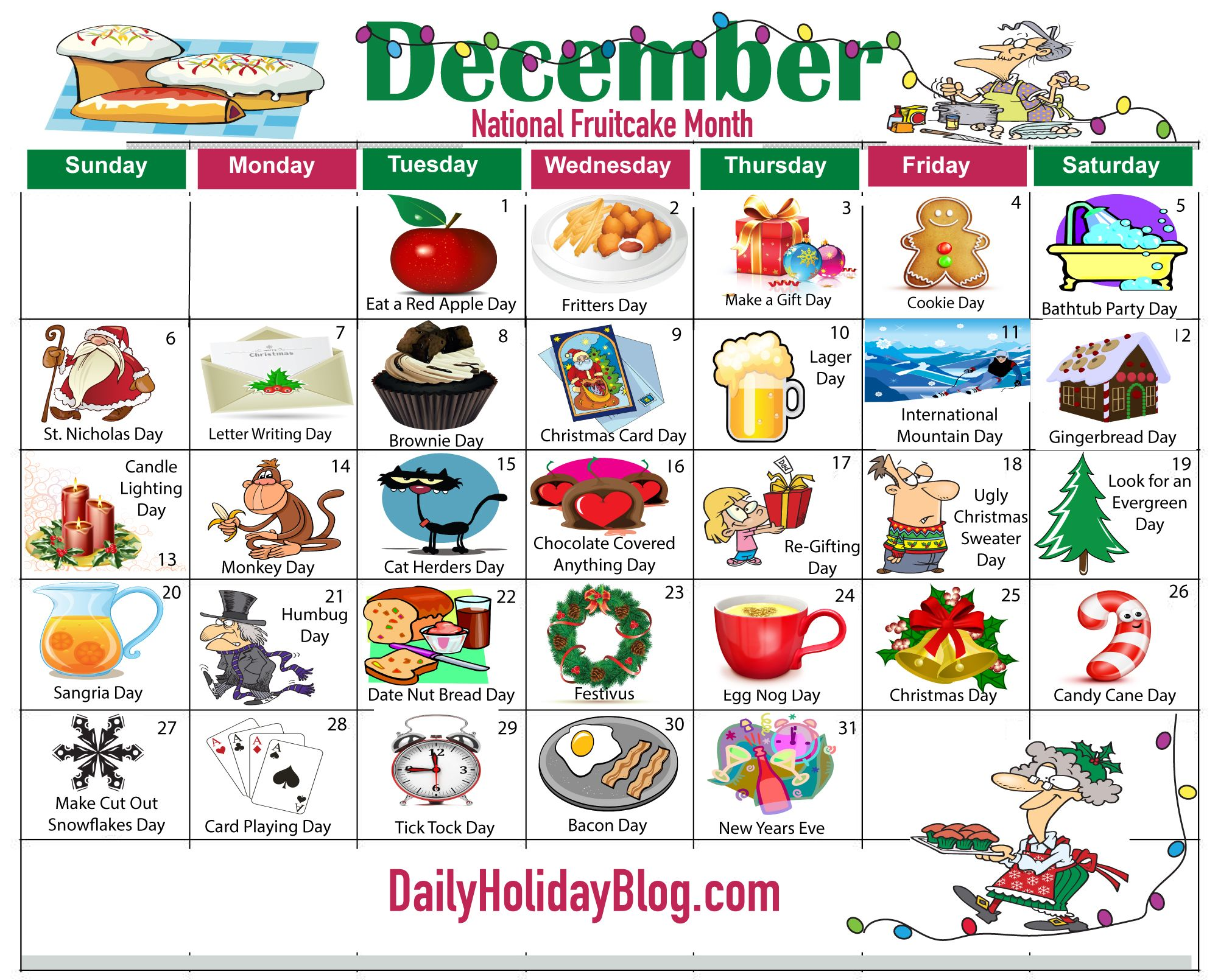 Upload your free December Holiday Calendar! Holiday