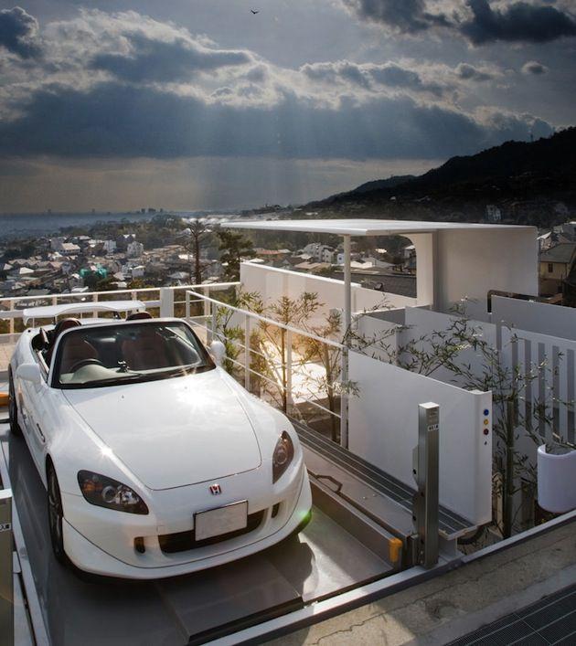 Japanese Exterior Elevator Garage | Home design