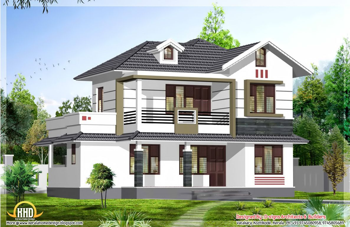 1950s home designs 1950 square feet 4 bhk stylish kerala for Kerala new model house