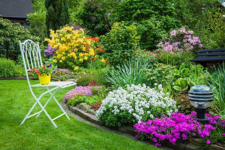Wunderschone Idee Fur Einen Geordneten Garten Mit Blumenbeeten Blumenbeete Garten Blumenbeet