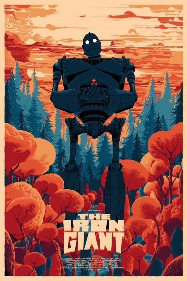 Iron Giant by Kilian Eng Poster Print Art Ltd x/100 Mondo Durieux Horkey Stout | eBay