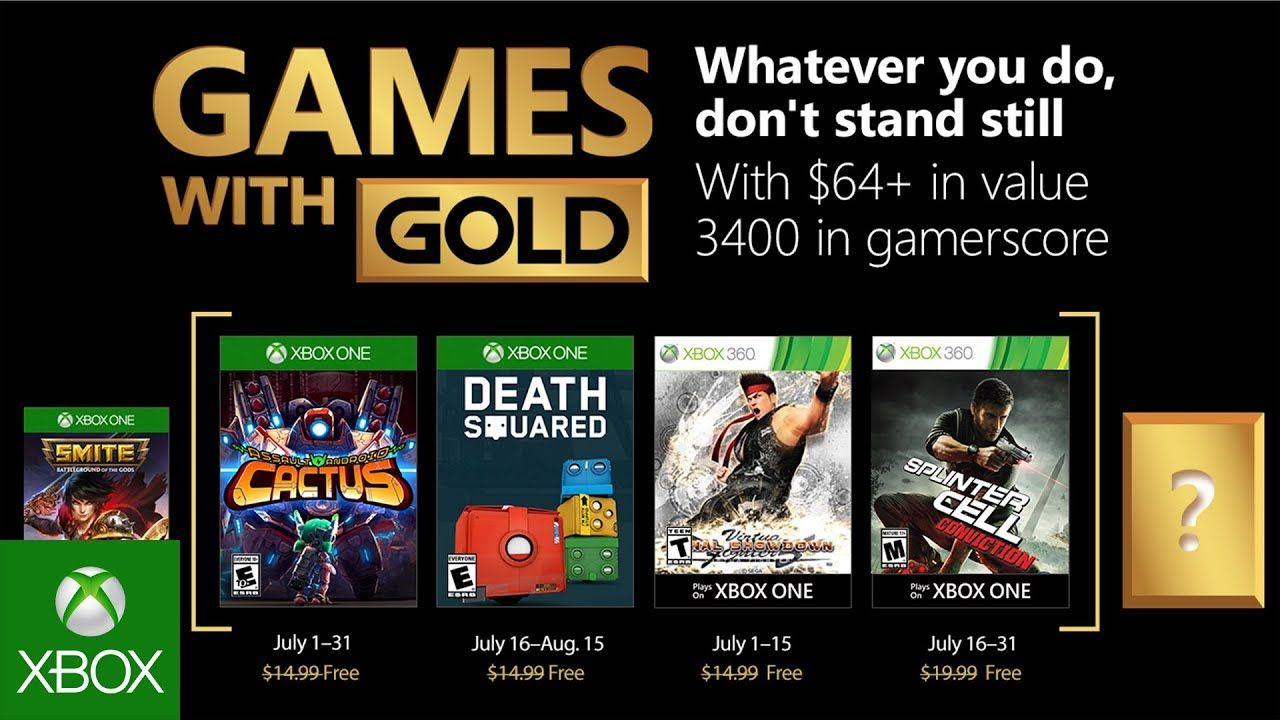 Xbox S Games With Gold Titles Announced For July 2018 Gizorama S