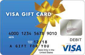 Visa Gift Card Name Gifts Christmas Birthday