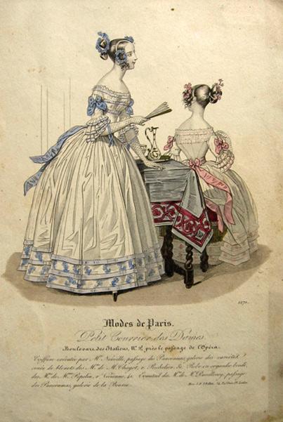 Modes De Paris Antique Hand Colored French Fashion Plate Antique Fashion Prints In 2020 Fashion Plates Aged Clothing Vintage Costumes