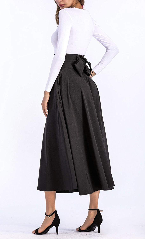 1c3a98fa0 Amazon.com: black high waisted maxi skirt