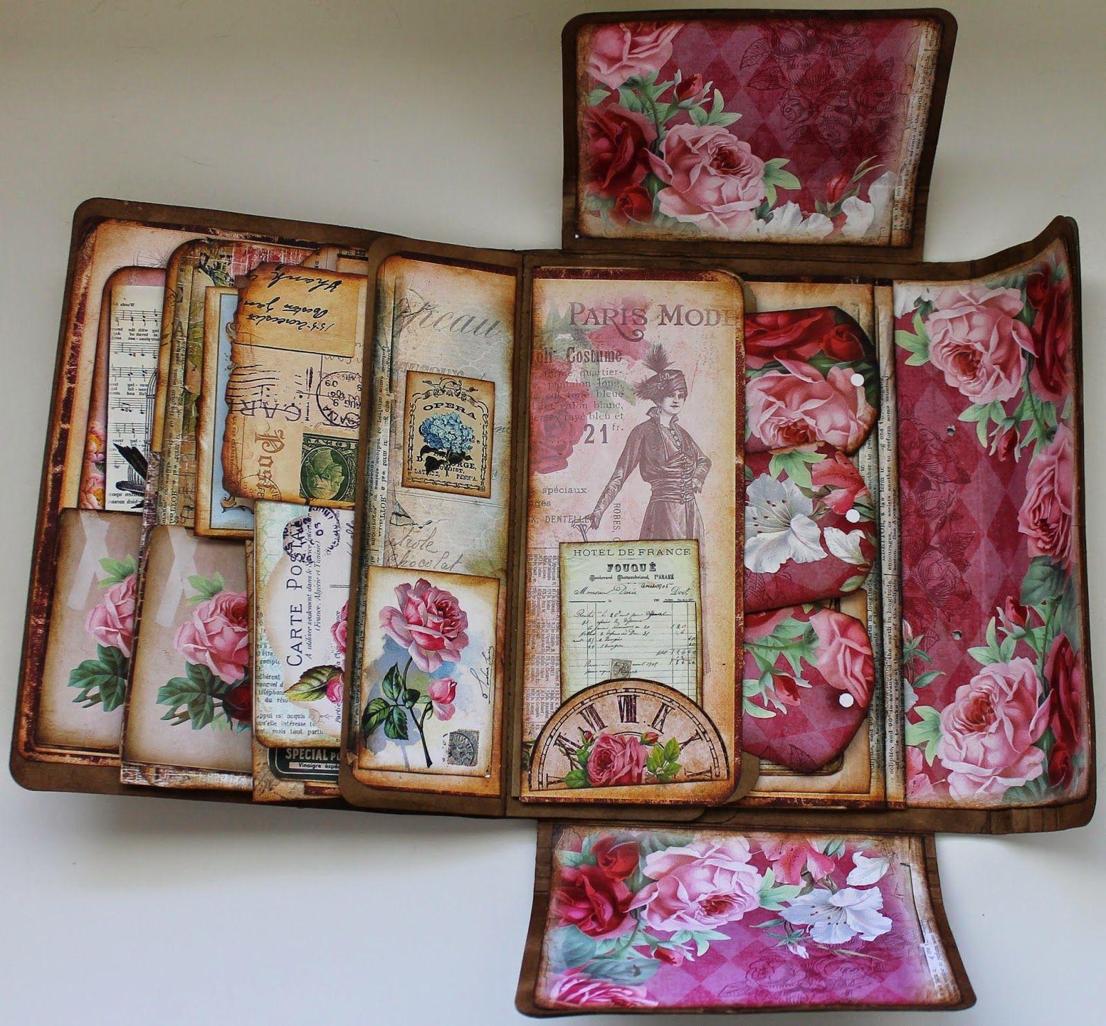 ShelbyDoodle Designs: Creative Team Project For Ephemerau0027s Vintage Garden  And Tim Holtz Folio Folder
