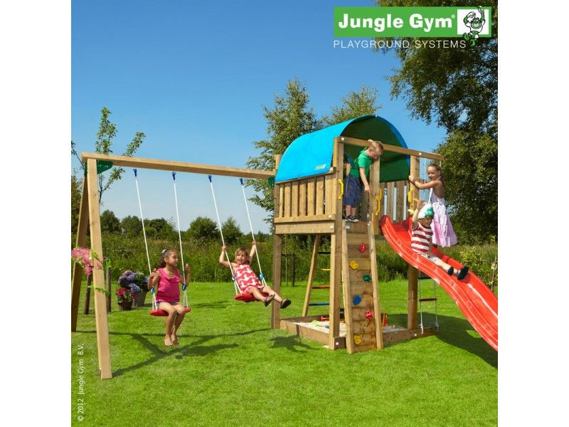 jungle gym villa swing garden pinterest tuin houten schommel en buiten. Black Bedroom Furniture Sets. Home Design Ideas