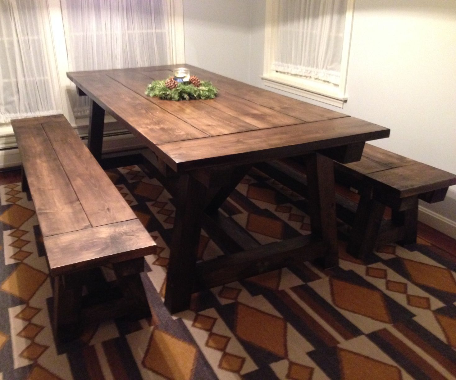 We Built A Rustic Farmhouse Table For Our Dining Room In This Instructable Ill List Out The Steps Building Benches That Went With