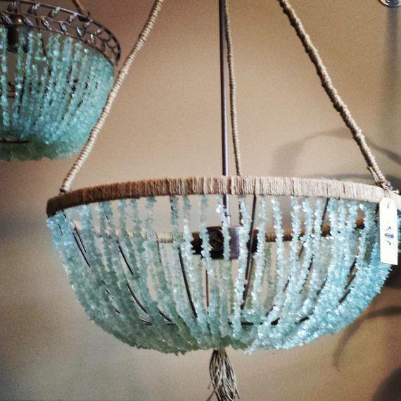 20 Open Sea Glass Chandelier This Beautiful Open Chandelier
