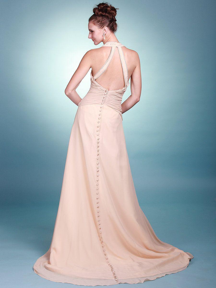 Beach wedding dress under 500  V Neck A Line Wedding Dress with Backless Detail  Bajaur