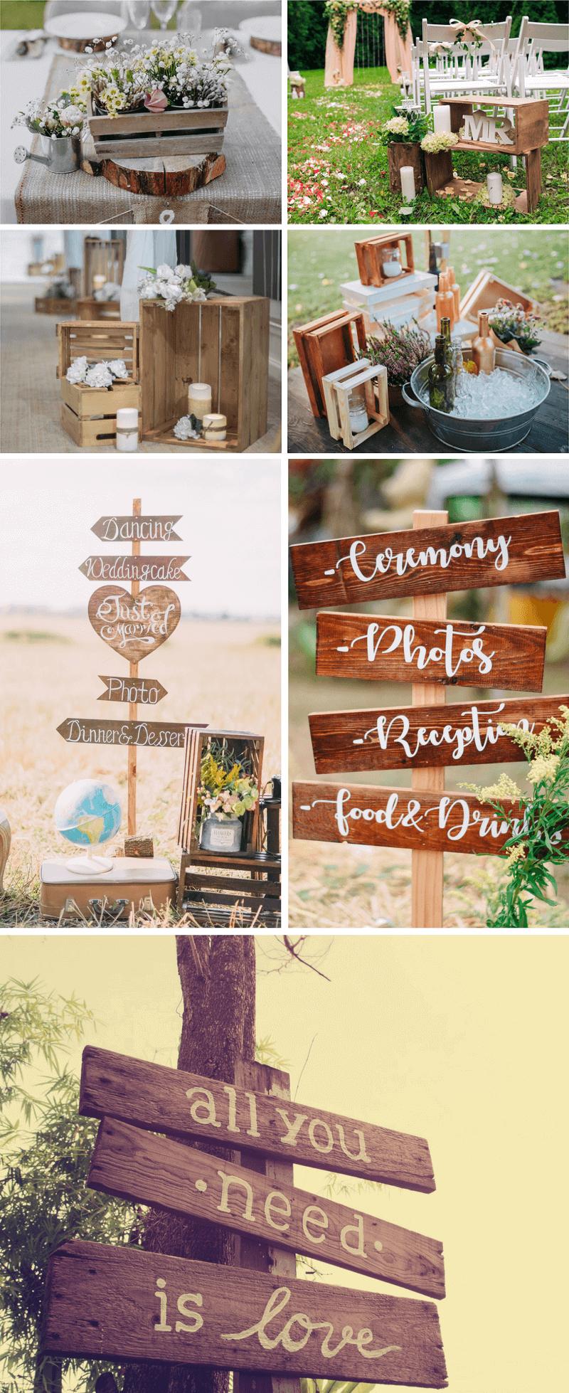35 Ideen Fur Eine Rustikale Hochzeitsdeko Aus Holz Products I Love