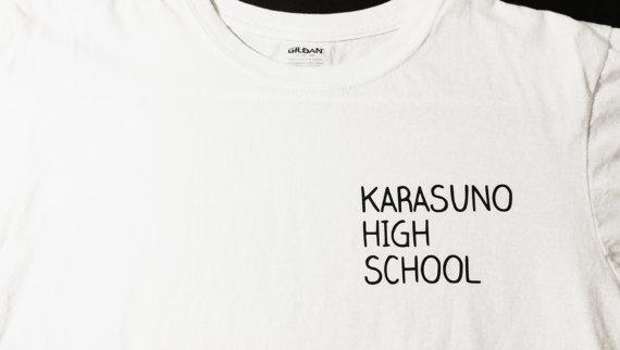 Karasuno High School t-shirt Volleyball anime by BadWolfCosplay