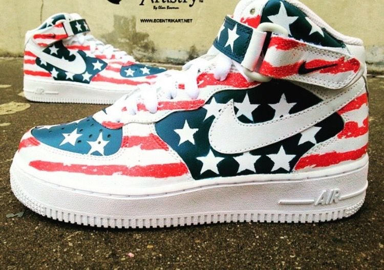 online retailer ad097 135a6 Air Force One Shoes, Nike Air Force, Painted Sneakers, Painted Shoes, Air