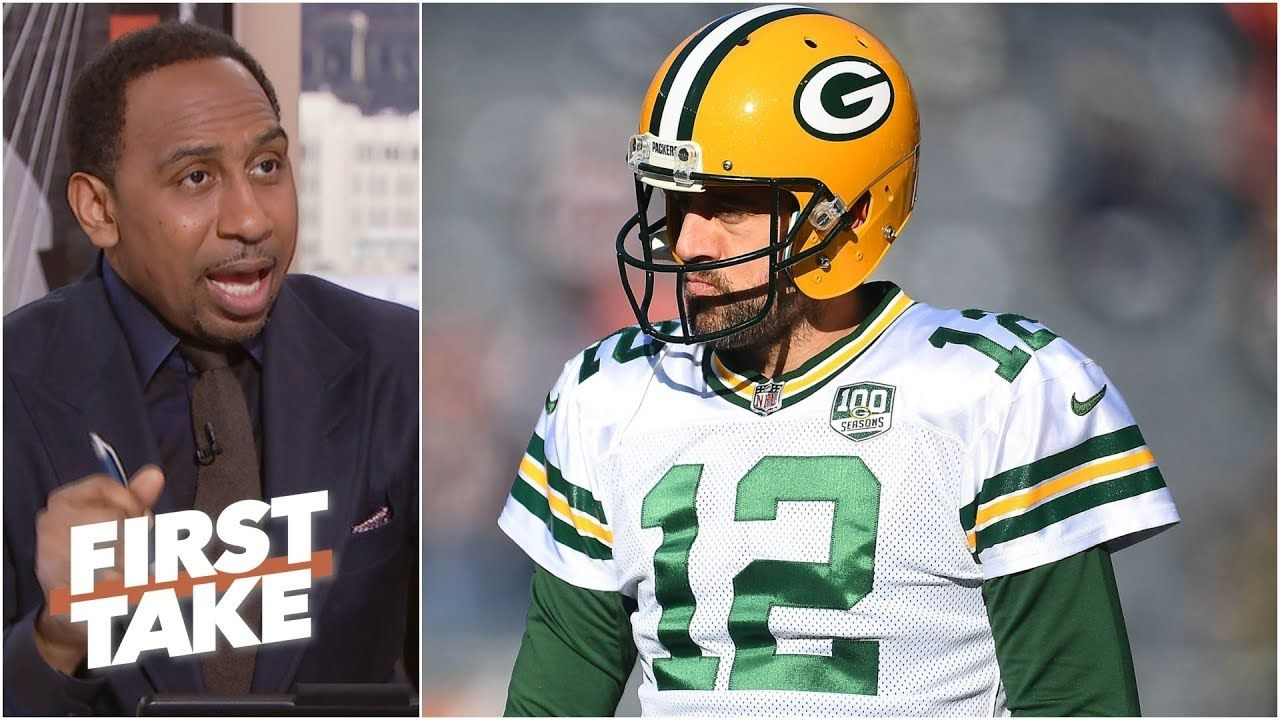 Aaron Rodgers Is Better Than Brett Favre Ever Was Stephen A L First Take Aaron Rodgers Basketball News Football Helmets