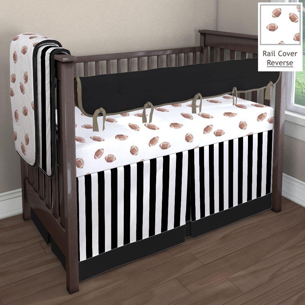 Football and Stripes Nursery Idea | Customizable Crib ...