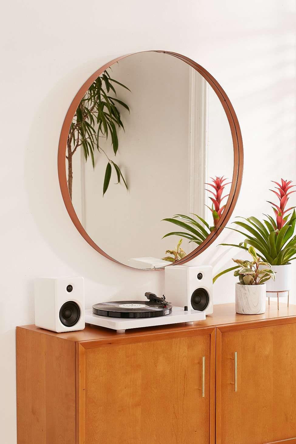 Internal Affairs Interior Designers: Large Circle Mirror, Copper Home