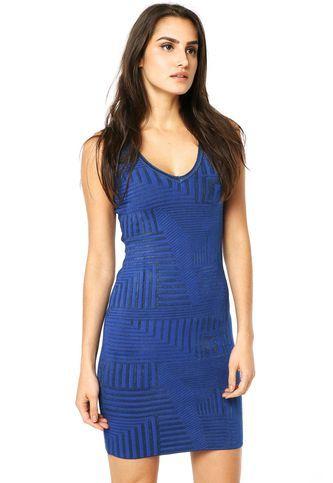 Vestido Shop 126 Geométrico Azul