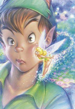 Just A Kiss Peter Pan And Tinkerbell Peter Pan Disney