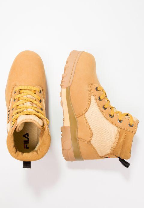 1a42a8ee829 Chaussures Fila GRUNGE MID - Bottines à lacets - chipmunk marron clair:  109,95 € chez Zalando (au 19/12/17). Livraison et retours gratuits et  service client ...