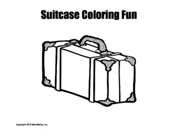 Suitcase Coloring Page Coloring Pages Flannel Boards Color