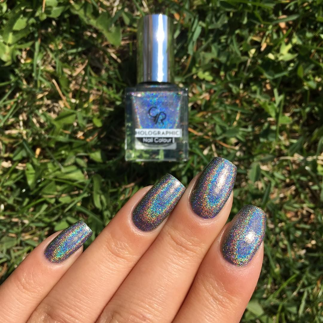 Golden Rose Holographic - 07 | Nail Color Holographic | Pinterest ...