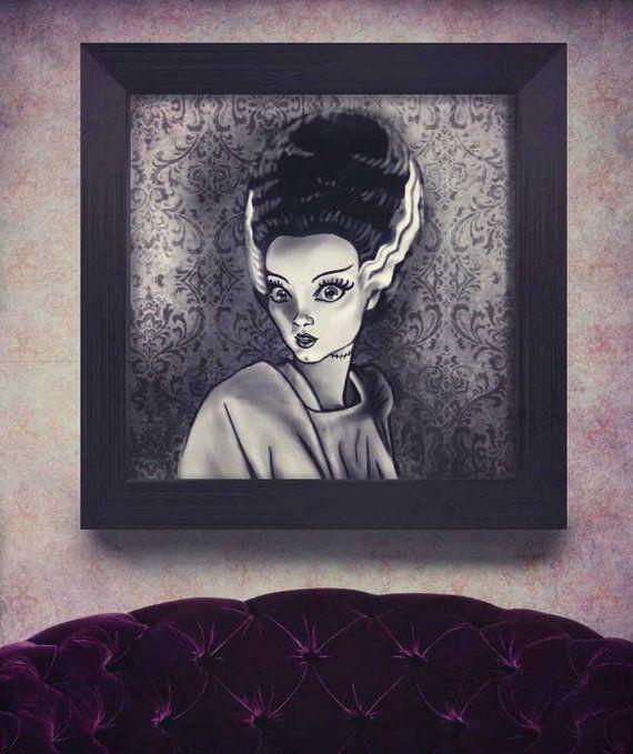 La Novia de Frankenstein póster láminas decorativas por PoisonB