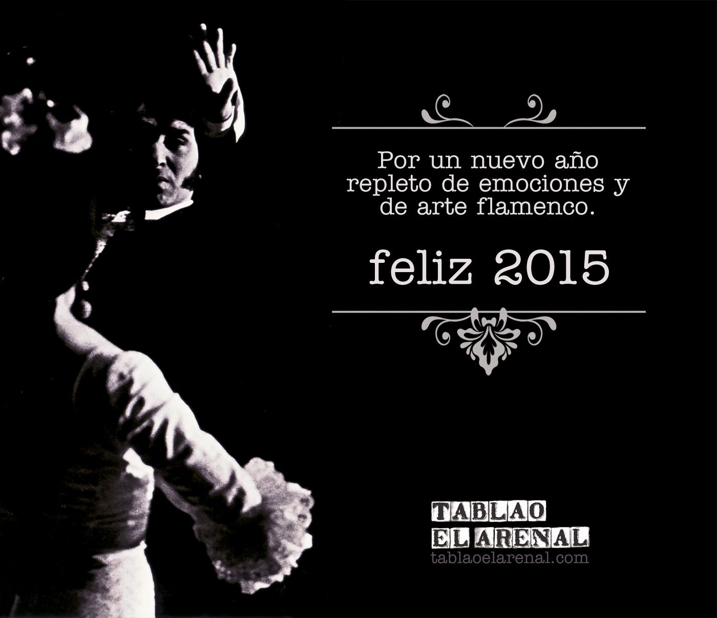 Por un nuevo año repleto de emociones y de arte flamenco. Feliz 2015. tablaoelarenal.com