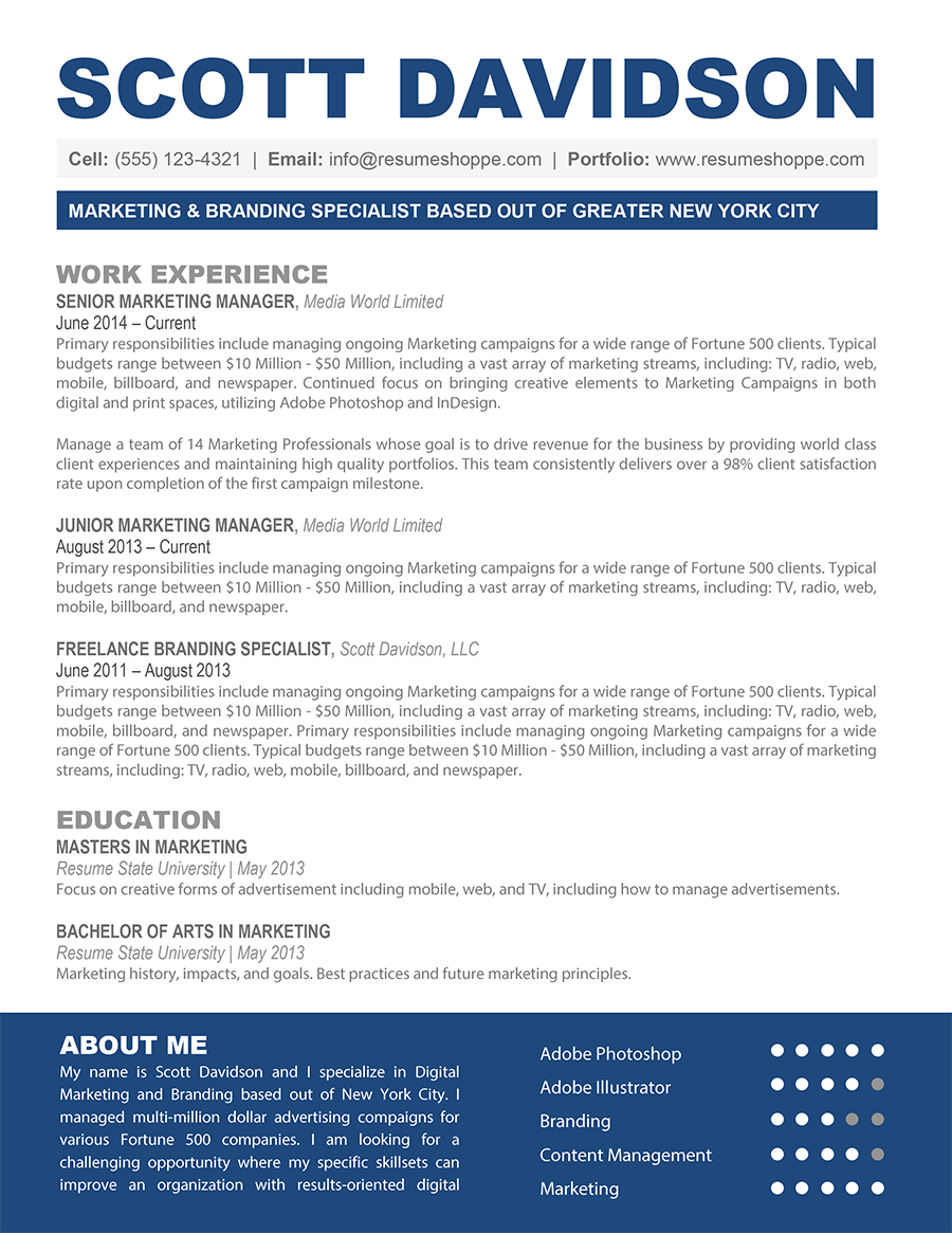 How To Introduce Yourself In Resume The Scott Resume Bespoke Resumes Resume Resume Templates