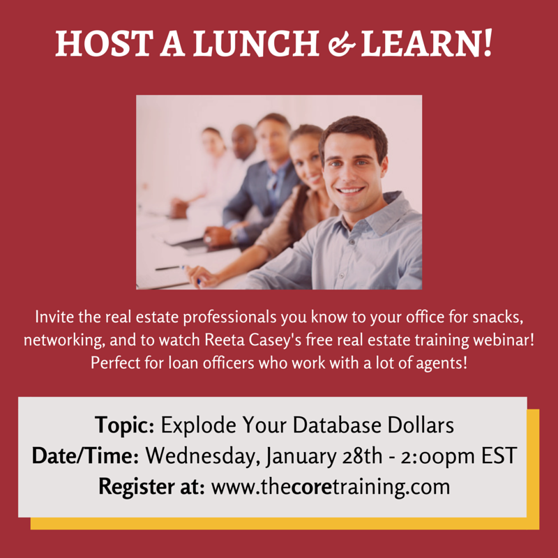 Lunch And Learn Ideas For Real Estate Agents And Loan Officers