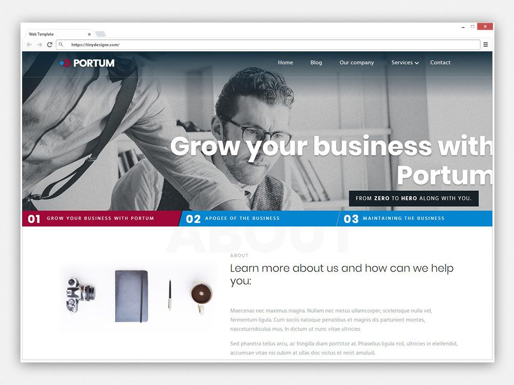Portum free wordpress theme business agency corporate free portum free wordpress theme business agency corporate friedricerecipe Gallery