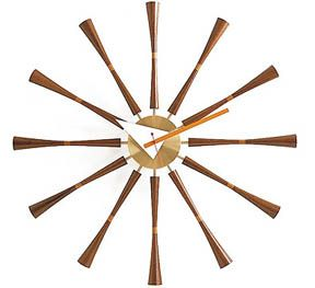 The George Nelson Spindle Wall Clock by Vitra