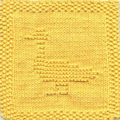 Duck No 2 Knit Dishcloth Pattern Animal Knit Dishcloth