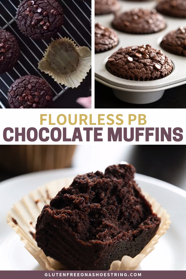Photo of Flourless Chocolate Peanut Butter Muffins