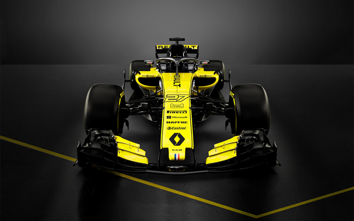 Download Wallpapers Renault Rs 18 4k 2018 Cars F1 Formula 1 Halo Formula One Renault F1 Besthqwallpapers Com Carro De Fórmula 1 Formula 1 Carros